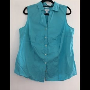 Pretty blue Charter Club button down blouse